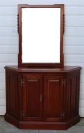 #6930 Henkel Harris hall stand with hanging mirror