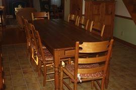 8 X 3 PINE HARVEST TABLE