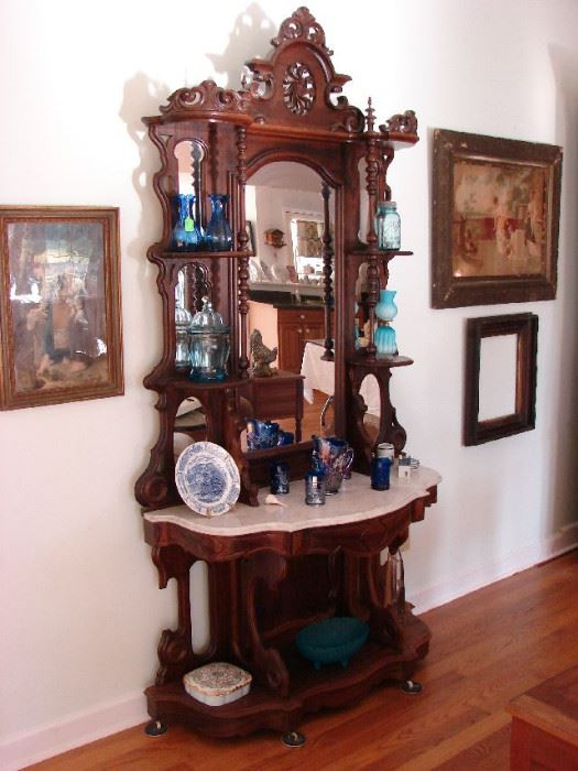 Outstanding Antique Furniture Vintage Glass Pottery And China Over 4 Dozen Of Fine Jewelry Artwork Frames