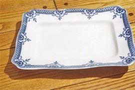 19th Blue White Platter