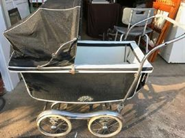 Vintage baby buggy carriage
