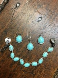 Fossil turquoise jewelry