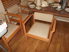 set of 4 Kimball #1204  chairs