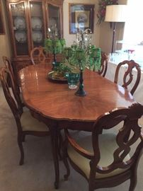 Dining table, 6 chairs, and matching china cabinet
