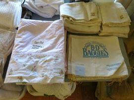 Vintage Cotton Sheets, B-D Baggies