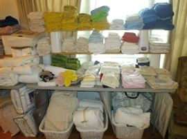 Towels, Shower Curtains, Almost New Mattress Covers, New Shears