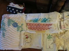 Doillies, Pillow Cases, Chenille Bedspread