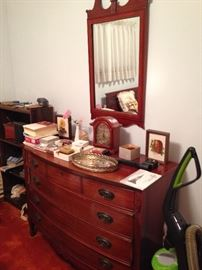 The matching Dixie dresser and mirror!
