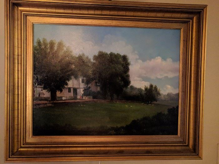 The other of the pair of original oil paintings, by William Hoffman.