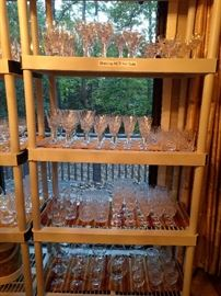 These people drank - a lot!                                                       These people entertained - a lot!                                               SO,  ton's o' glass & crystal stemware/barware to choose from.