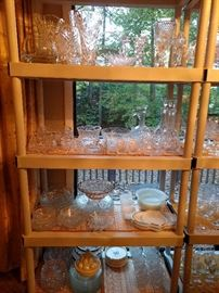 Nice crystal decanters.                                                                       To the asshole who came to our last sale and stole all of the stoppers, don't bother coming to our sale - I know who you are.