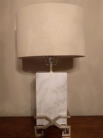 "Wonderful (HEAVY) solid marble "" Kerrigan"" table lamp, by Surya - it retails for over $400.00/"