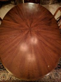 Top view of the Henredon dining table.