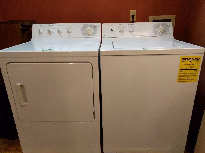 Gently used GE washer/dryer.