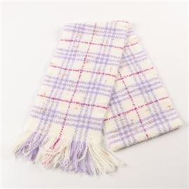 2127c26960 Burberry Plaid Wool Blend Scarf: A Burberry plaid wool blend scarf. This  off white