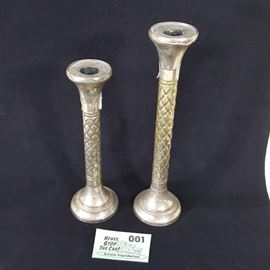 Silver Plate Candlesticks