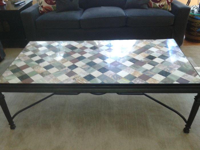 Mosaic Granite Coffee Table
