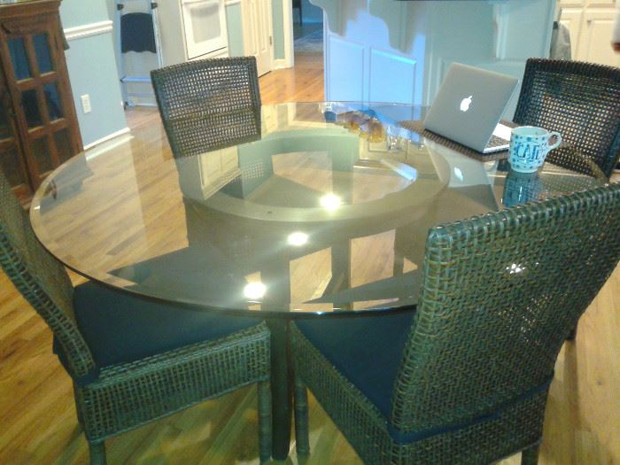 """Dining Table from Crate and Barrel. 6 chairs, Table 60"""""""