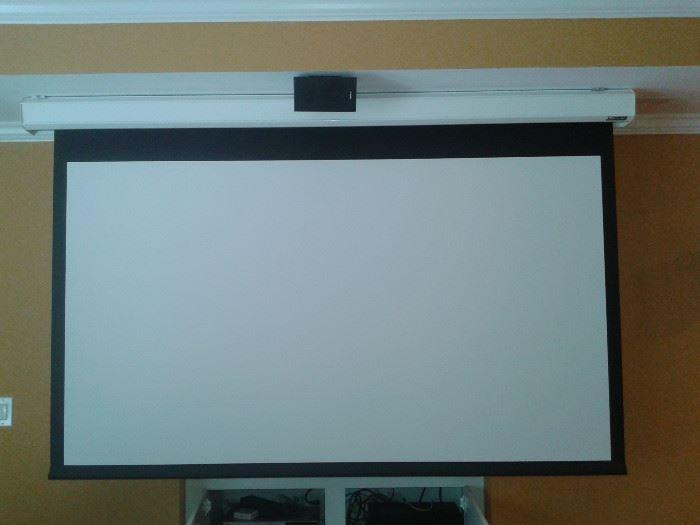 Vutac 7 foot Motorized Home Entertainment Screen