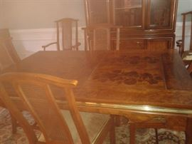 Another Photo of the Dining Table without the 2  inserts.