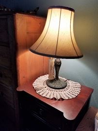 Vintage metal base lamp