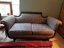 Antique Empire style loveseat