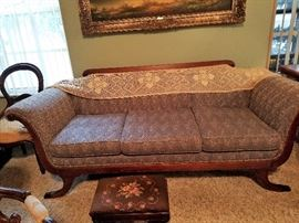 Matching Antique Empire style sofa
