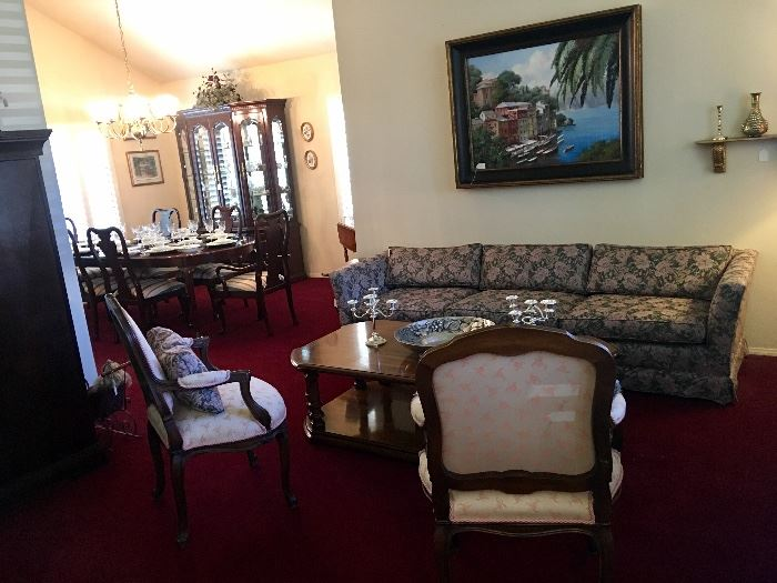 Living Room And Dining Room Furniture. Formal Queen Anne Dining Room Set    Table Has Extra Leaves Not Shown And Custom Pads. Part 97