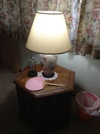 Occasional table and lamp