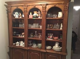 Three piece wall unit - lighted