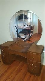 $150    1950's vanity with mirror