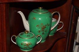 Green & Gold Tea Set Pieces