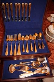 Reed & Barton Sterling Cameo Pattern, Service for 13, All Serving Pieces including Demitasse and Iced Tea Spoons