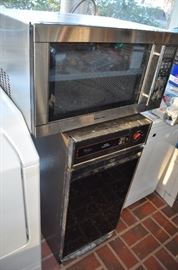 Microwave and Trash Compactor