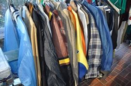 Lots of Men's clothes and jackets - all sizes - designer names