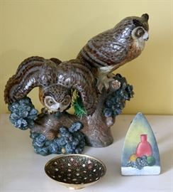 The owls are Lladro and gorgeous.