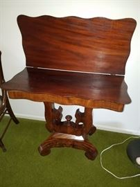 Empire Pivot Game Table from 1840's