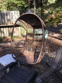 Outdoor swing and stand