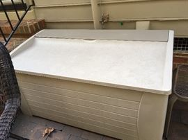 Large outdoor storage chest