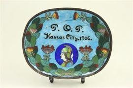 Lot 24: Art Nouveau Cloisonné Dish