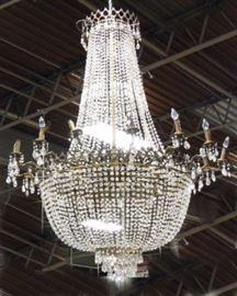 Lot 178: Crystal Basket Chandelier