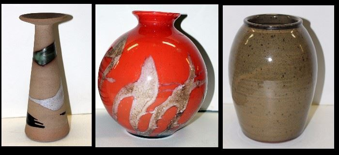 Glass and ceramic vases