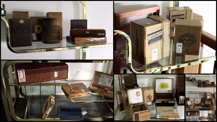 Collection of Cigar Boxes