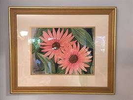 Gold Framed Daisy Print