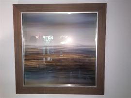 Large Framed Abstract Print