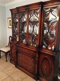 Antique Breakfront China Cabinet (40's) Excellent Condition
