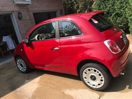 Fiat 500  2013 (Red hatchback) 40,998 miles New tires (all season) Full factory warranty (50,000 miles) Manual transmission  Bluetooth capability  Power windows/locks Clear title
