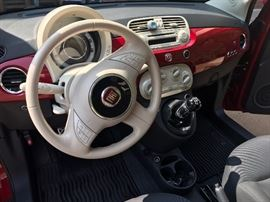 Fiat 500  2013 (Red hatchback)  - 40,998 miles New tires (all season) - Full factory warranty (50,000 miles)  - Manual transmission  - Bluetooth capability  Power windows/locks  - Clear title