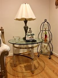 Pair LaBarge side tables and coffee table