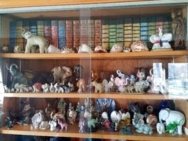 Hundreds of elephant figurines